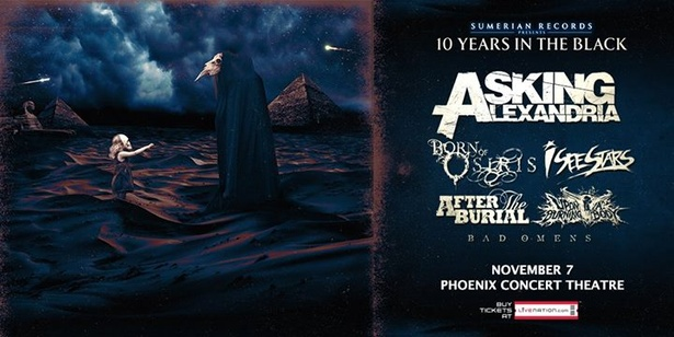 Asking Alexandria  Years In The Black Tour November
