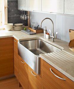 Burled Beach Corian Kitchen Countertops