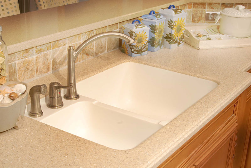 Buildasurface gallery for Solid surface kitchen sink