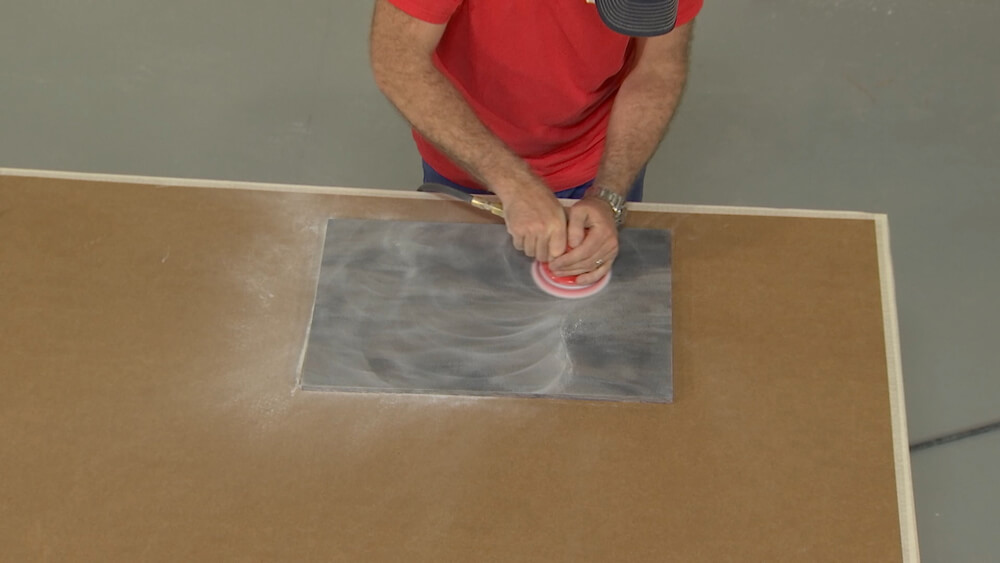 Sanding Solid Surface with 60 Micron Pad