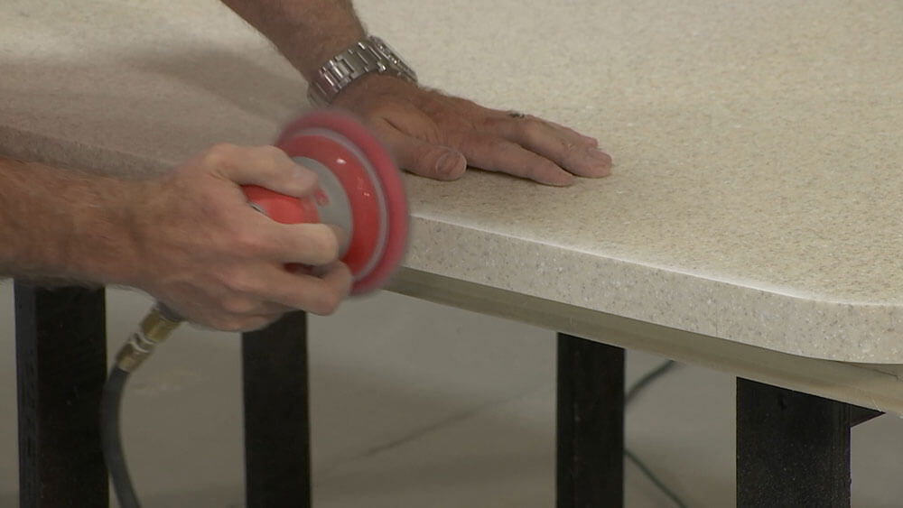 Use Orbital Sander to Smooth Edge