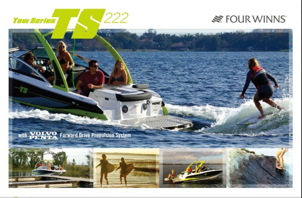 Press Event Coverage: Four Winns TS 222 Wakesurf Boat