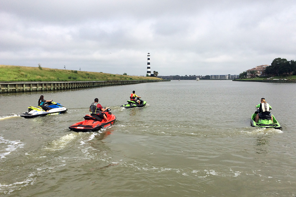Sea-Doo group ride at Team Mancuso Powersports in Houston, Texas. Event produced by LOOK Marketing.