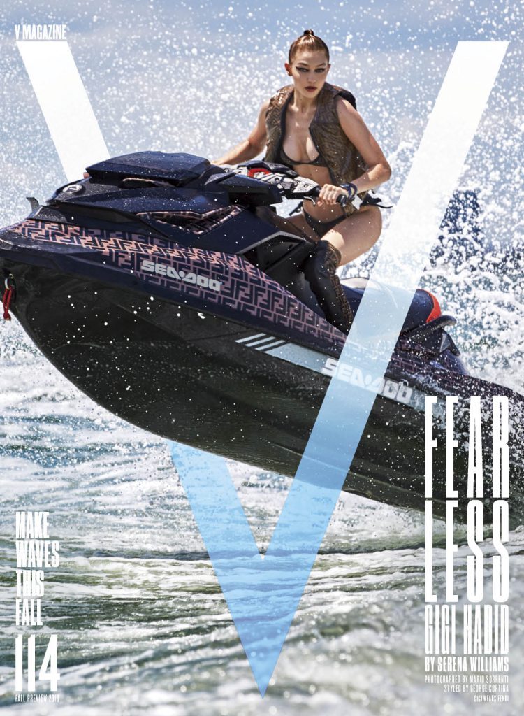 Look Marketing leverage opportunity presented by V-Magazines to show case client Sea-Doo watercraft with Fendi and Supermodel GIGI Hadid for incredible impressions.