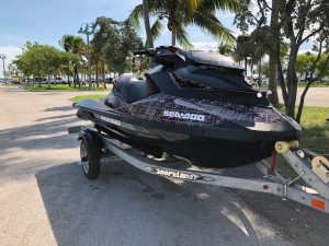 Custom watercraft event vehicle full branding fend