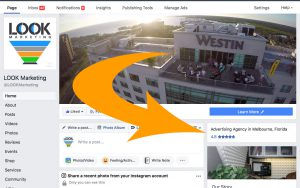 LOOK Marketing Facebook Page example, Facebook ad
