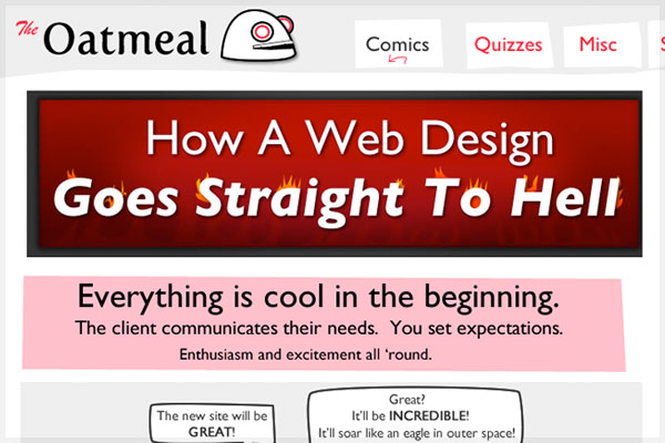 How A Web Design Goes Straight to Hell