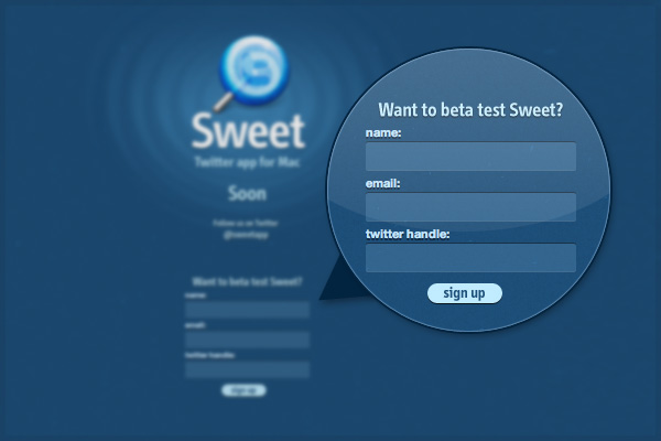 Sweet Beta Sign Up