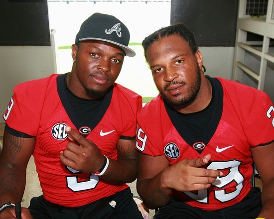 Alec Ogletree and Jarvis Jones