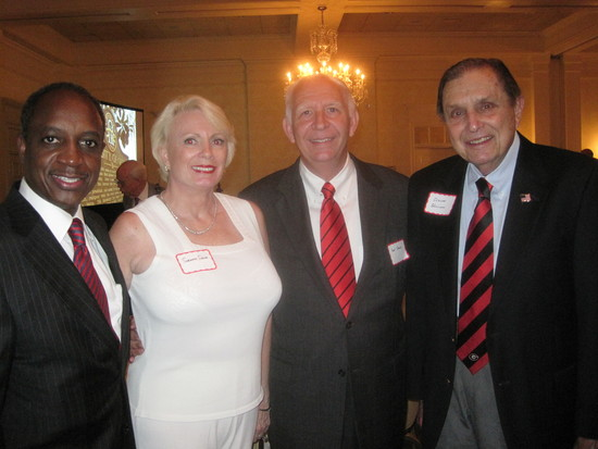 (left-right) Michael Thurmond, Suzanne and Paul Stone and Claude Williams