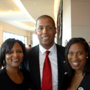 (left-right) Sheryl Merritt, Athletic Director Damon Evans and