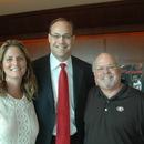 (left-right) Stephanie Leathers, Coach Mark Fox and Bob Pease