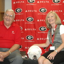 Sonny Seiler, Karen Huff with Uga VII