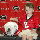 Brady Caspar with Uga VII