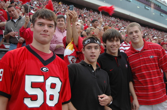 (left-right) Morgan Gantt, Tim Felz, Michael Williams and Luke Cross