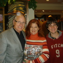 (left-right) Coach Vince Dooley, Angel Keenan-Bloom and Nicholas Bloom