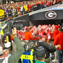 The Georgia Bulldogs prepare to take the field. UGA 10, LSU 42 SEC Championship Game, Dec. 3, 2010, Georgia Dome, Atlanta. (Photo: Scates/BI)