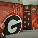 The Georgia Locker Room. UGA 10, LSU 42 SEC Championship Game, Dec. 3, 2010, Georgia Dome, Atlanta. (Photo: Scates/BI)