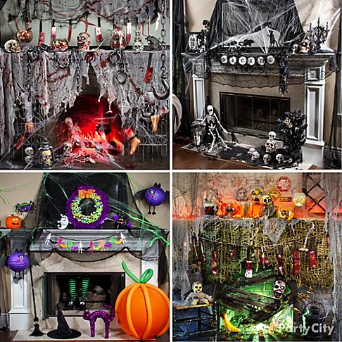bundlr hair raising halloween mantel decorating ideas party city - Party City Halloween Decorations