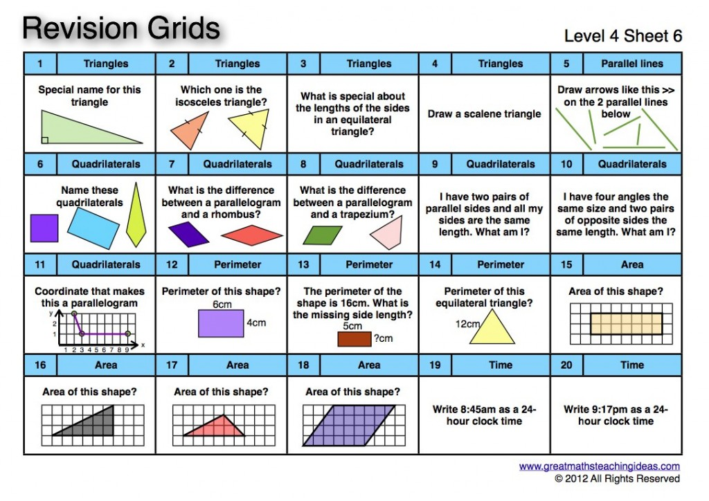 Worksheet 10001294 Year 6 Maths Revision Worksheets Worksheet – Year 4 Maths Revision Worksheets