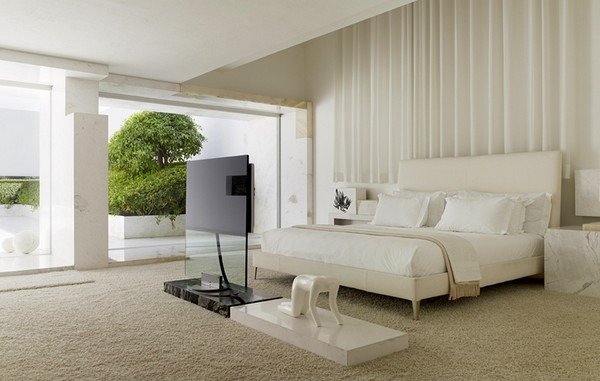 tecas 43 futuristic residence white bedroom Back to the Future futuristic residence in Mexico