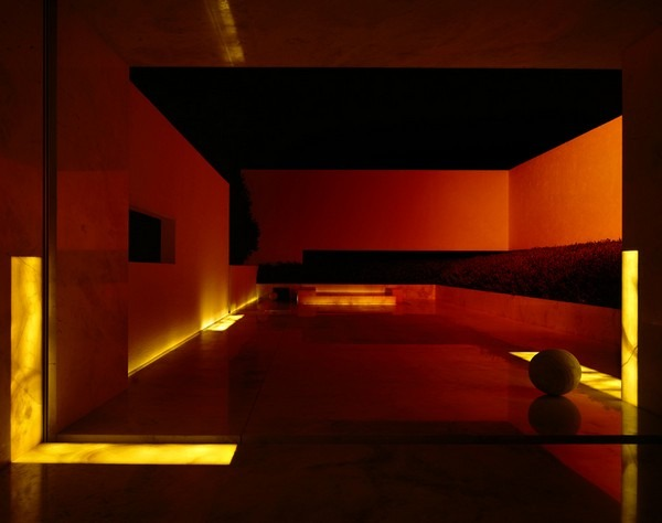 tecas 43 futuristic residence living area dark lighting Back to the Future futuristic residence in Mexico