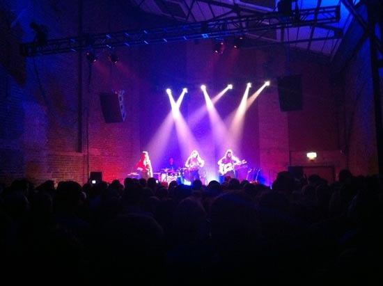 staves band live village underground london 19th November 2012