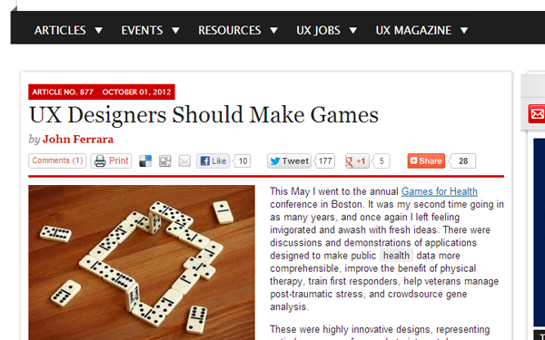user experience designers should create games