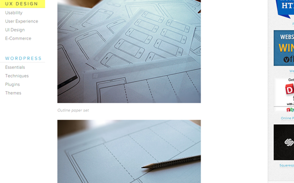 Sketches and Wireframe Templates