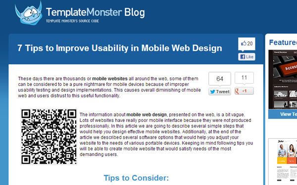 Template Monster Blog improving user experience