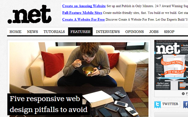 dotnet magazine responsive mobile website design trends