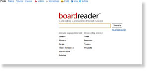 boardreader 54 Free Social Media Monitoring Tools [Update2012]