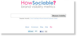 howsociable 54 Free Social Media Monitoring Tools [Update2012]