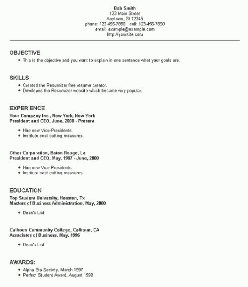 resume service houston