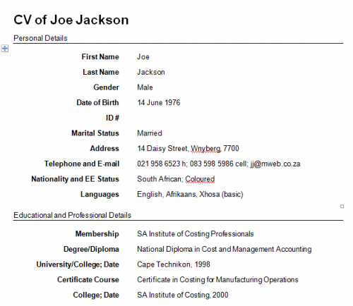 format to make a resume ~ Gopitch.co