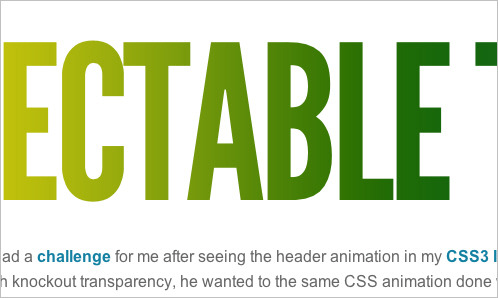 CSS3 Animations and Masking Text
