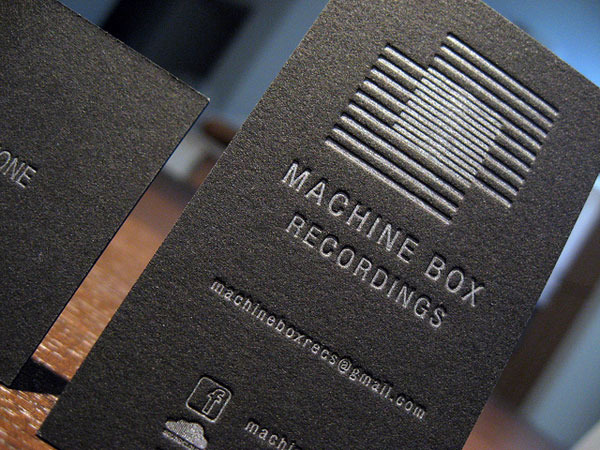 Metallic Letterpress Business Card