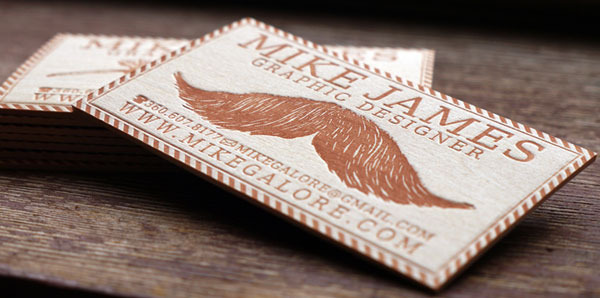 Balsa Wood Business Cards