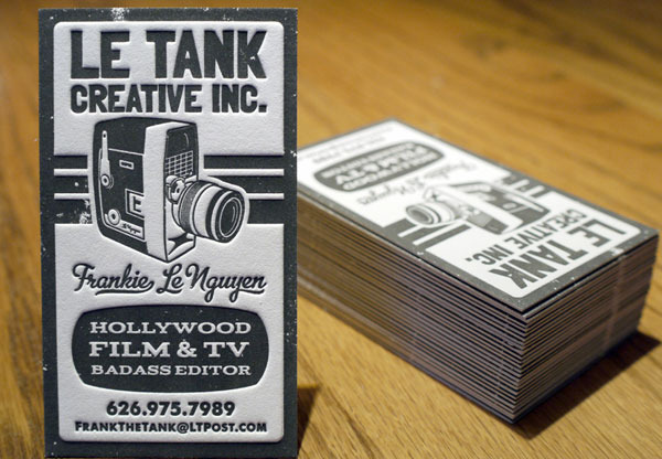 Le Tank Letterpress Business Card
