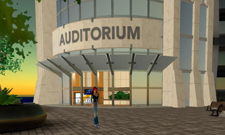 Second Life auditorium
