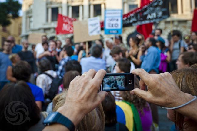 Manifestação 15 de Outubro no Porto. Foto de José Ferreira (usada com permissão).