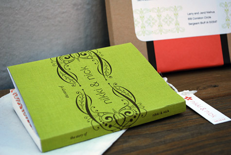 Smythe Sewn Letterpress Wedding Invitation Book Free Tutorial and Invitation Idea by Nikki Lo Bue