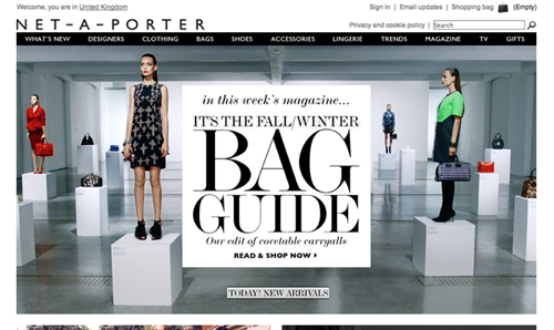 Net a Porter Ecommerce Website