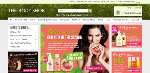Body Shop Ecommerce Website