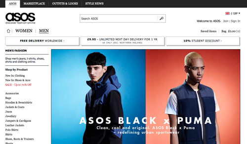 ASOS Ecommerce Website