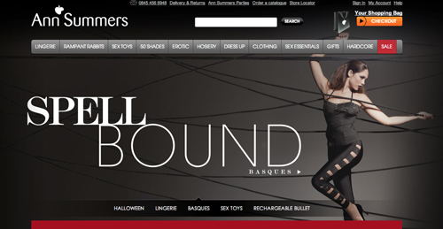 Ann Summers Ecommerce Website