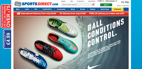 Sports Direct Ecommerce Website