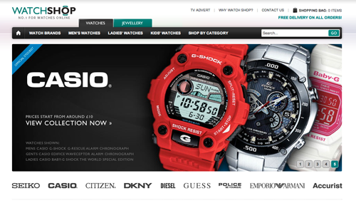 Watch Shop Ecommerce Website