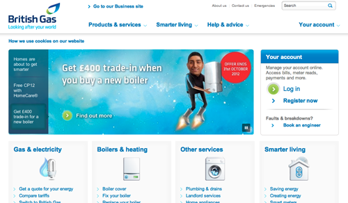 British Gas Ecommerce Website
