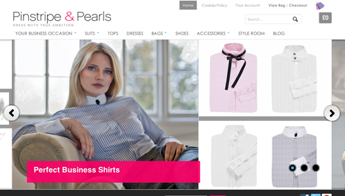 Pinstripes and Pearls Ecommerce Website